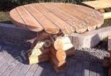 Tekintų rąstų stalas