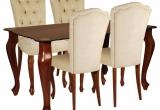 Stačiakampis stalas su kėdėmis (Medis)