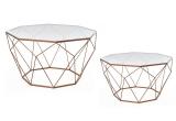 Staliukai 2 vnt. geometrinės formos vario spal 74x74x42 cm (55.5x55.5x38) SAVEX (3034975)