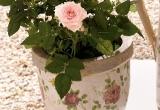 """Terakotinis puodelis """"Rožės"""""""