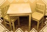 TIMBERINO stalas su kėdutėmis