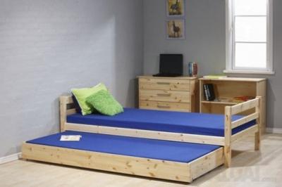 Viengulė medinė lova