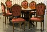 Itališkas stalas ir kėdės
