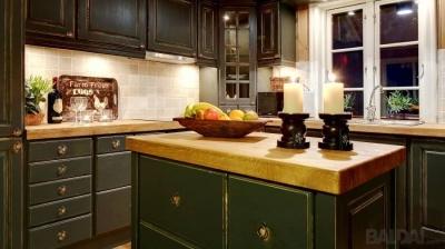 Išskirtinio dizaino medžio masyvo virtuvės baldai (16)
