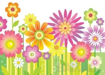 Lipdukas vaikų kambariui Spalvotos gėlės
